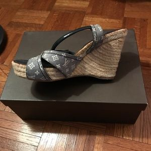 b46586fe5a73 Louis Vuitton Shoes - Louis Vuitton Majorca Wedge Sandal - 8cm